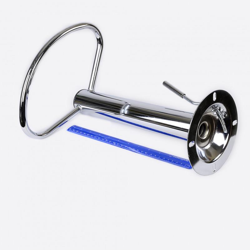 Подножка Хром d-163mm 10*10см H полукруг