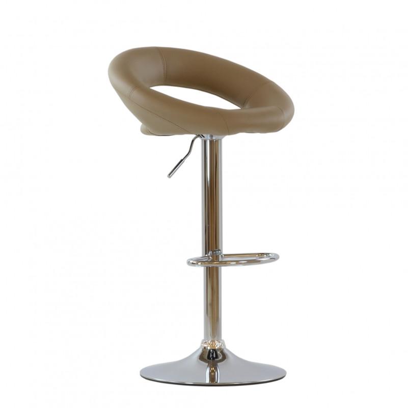 Барный стул Barneo N-84 Mira светло-коричневая кожа