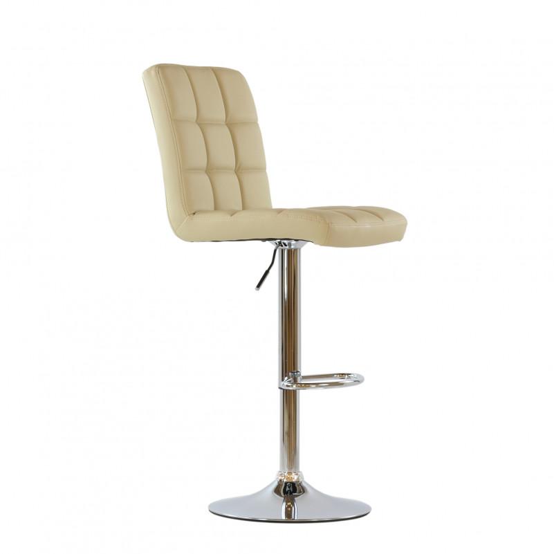 Барный стул Barneo N-48 Kruger бежевая кожа