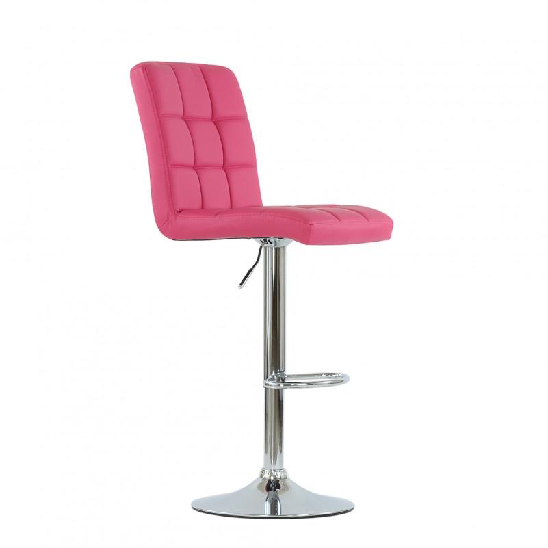 Барный стул Barneo N-48 Kruger розовая (фуксия) кожа