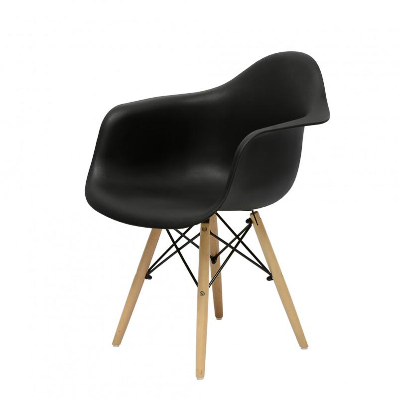 Кресло Barneo N-14 WoodMold Eames style черный