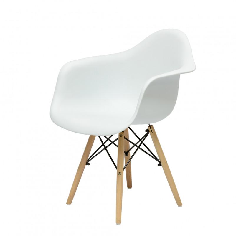 Кресло Barneo N-14 WoodMold Eames style белый