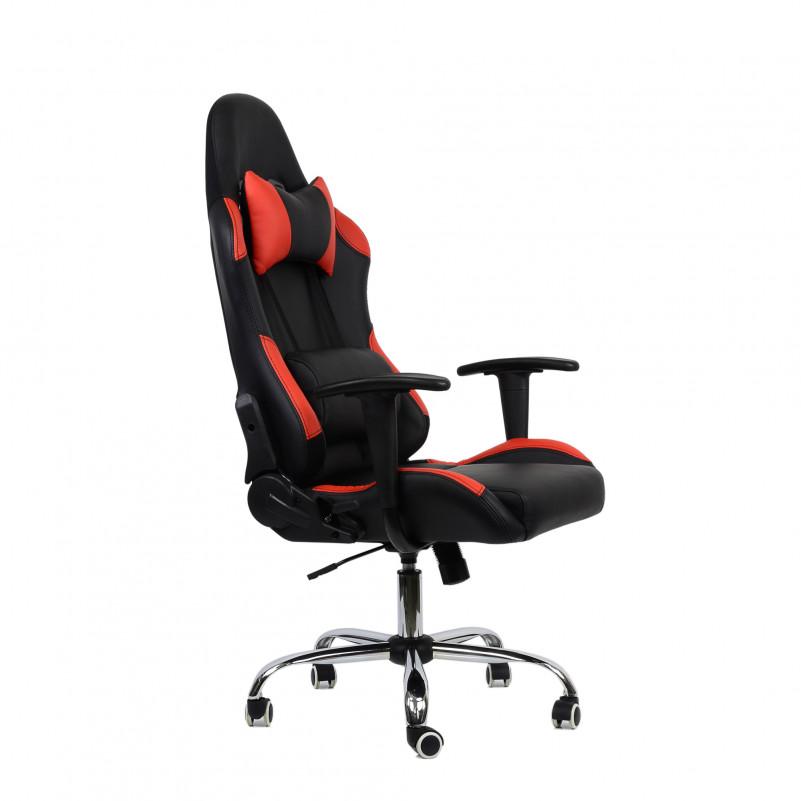 Кресло Barneo K-42 черная и красная кожа