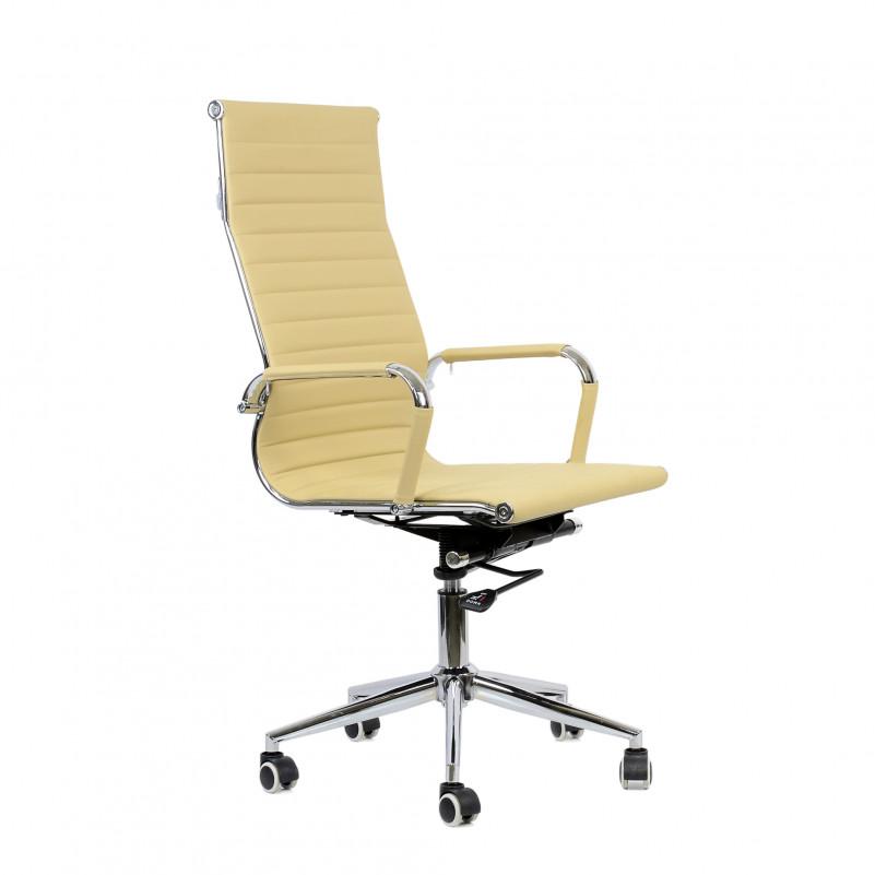 Кресло Barneo K-110 для персонала бежевая кожа (H-966L-1, CH-994)