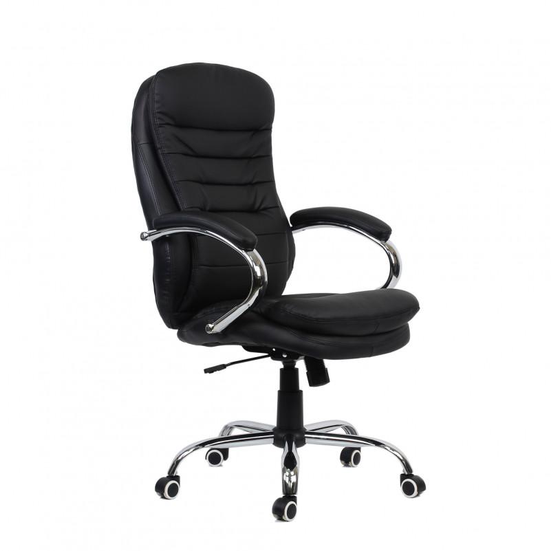 Кресло Barneo K-57 для руководителя черная кожа (CH-9950)