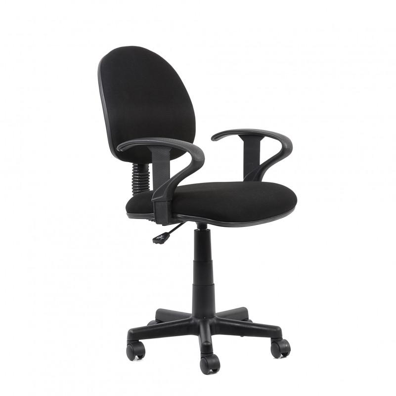 Кресло Barneo K-102 для персонала черная ткань (Престиж Люкс)