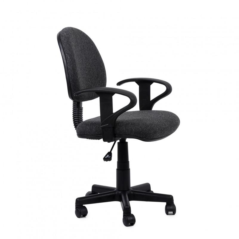 Кресло Barneo K-102 для персонала темносерая ткань (Престиж Люкс)