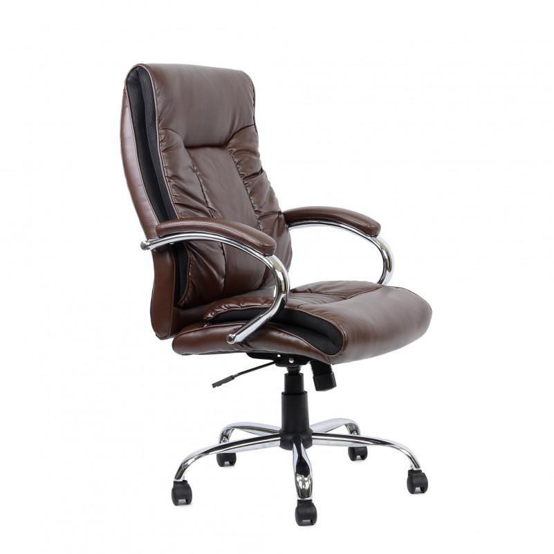 Кресло Barneo K-85 для руководителя коричневая кожа