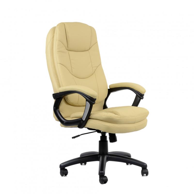 Кресло Barneo K-145 для руководителя бежевая кожа (CH-868)