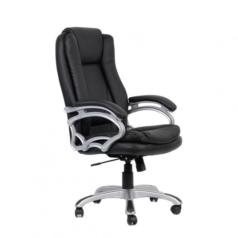 Кресло Barneo K-146 для руководителя черная кожа