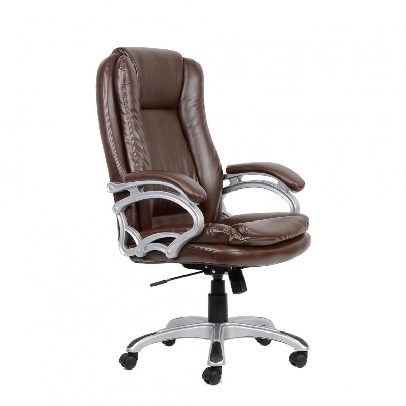 Кресло Barneo K-146 для руководителя коричневая кожа