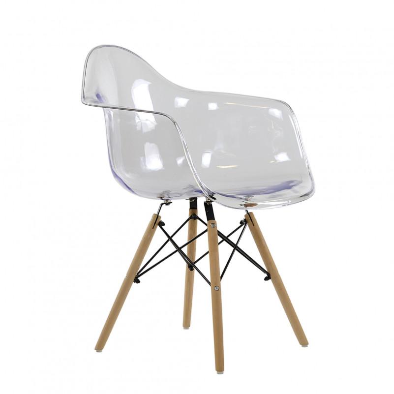 Кресло Barneo N-14 WoodMold Eames style прозрачный