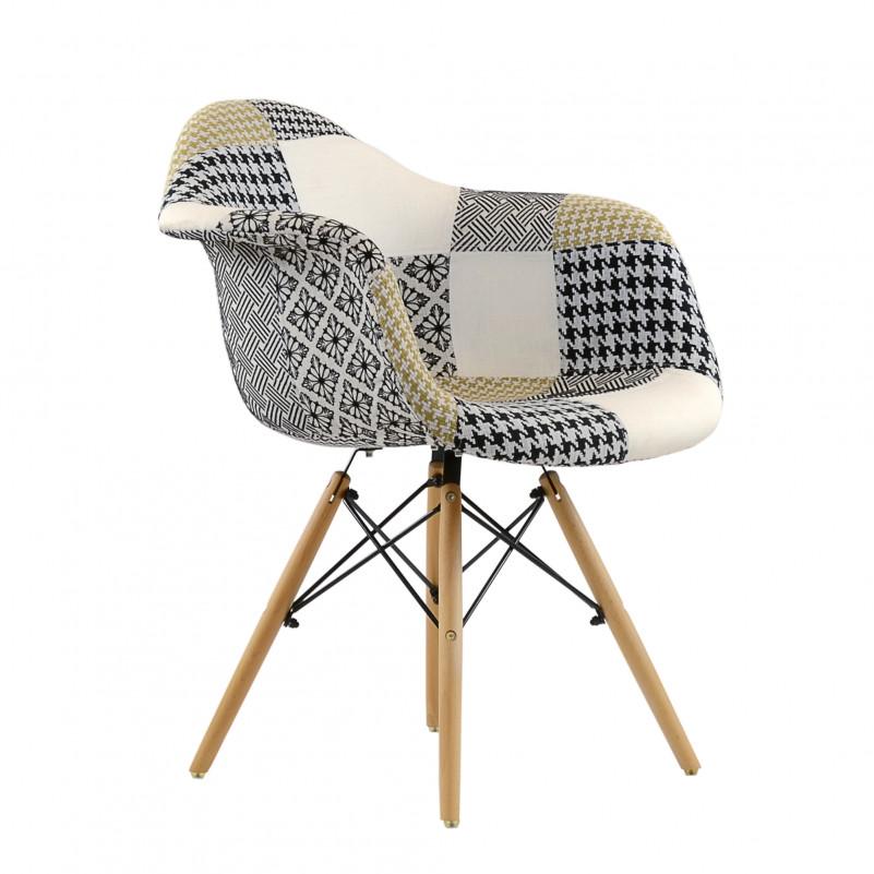 Кресло Barneo N-14 Patchwork трехцветный