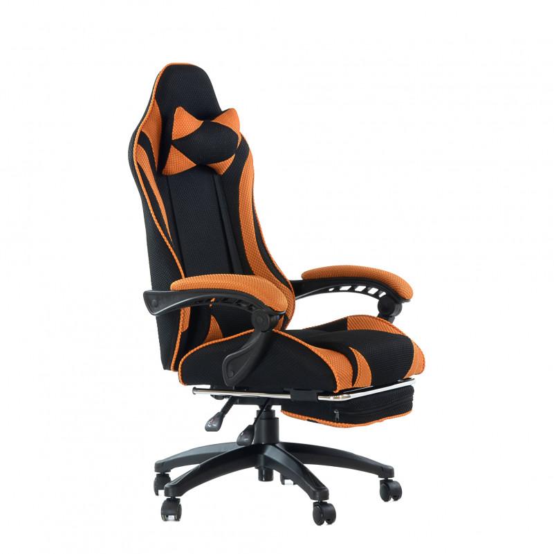 Кресло Barneo K-40 Black Edition черно-оранжевая сетка