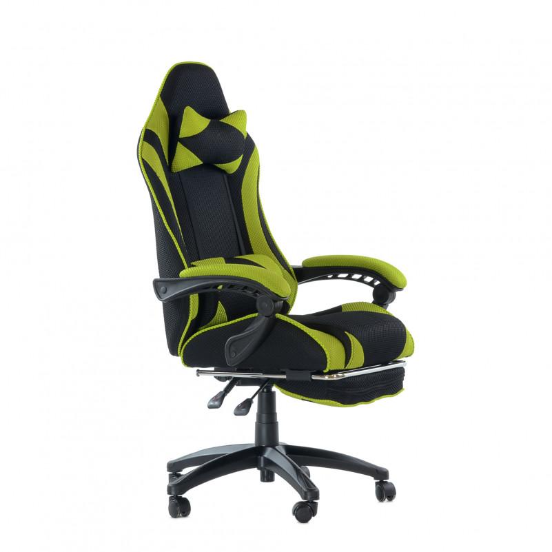 Кресло Barneo K-40 Black Edition черно-зеленая сетка