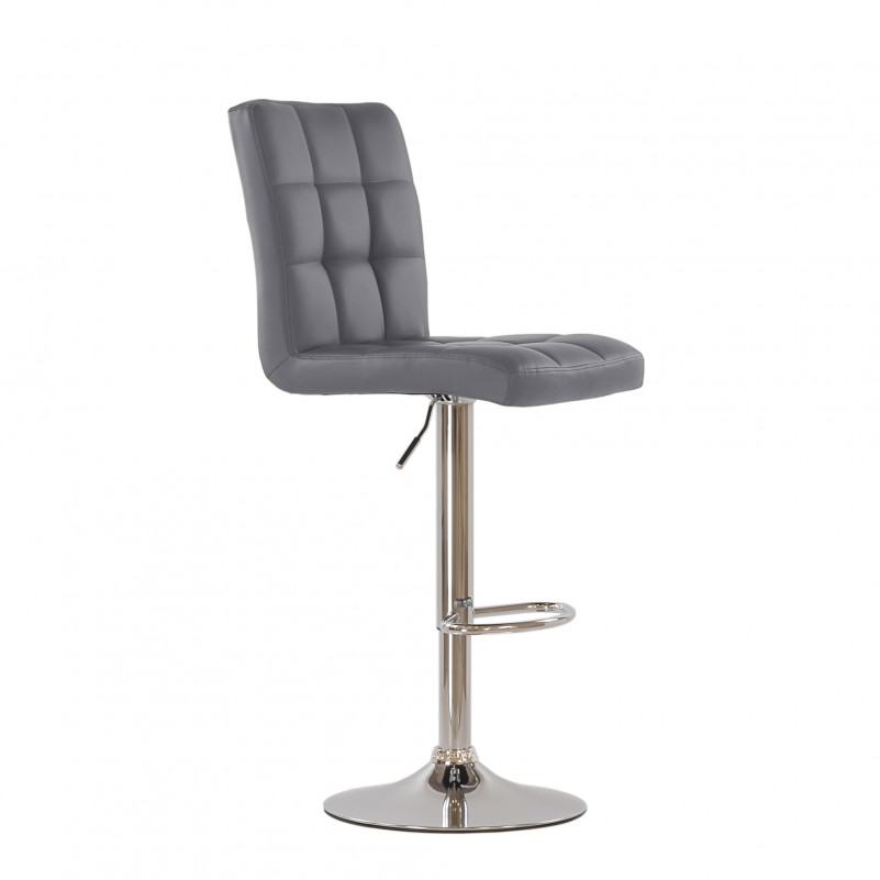 Барный стул Barneo N-48 Kruger серая кожа