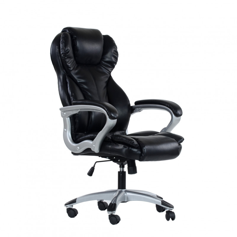 Кресло Barneo K-5 для руководителя черная кожа