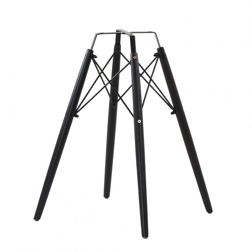 Каркас стула N-11 дерево, цвет черный, с набором крепежа
