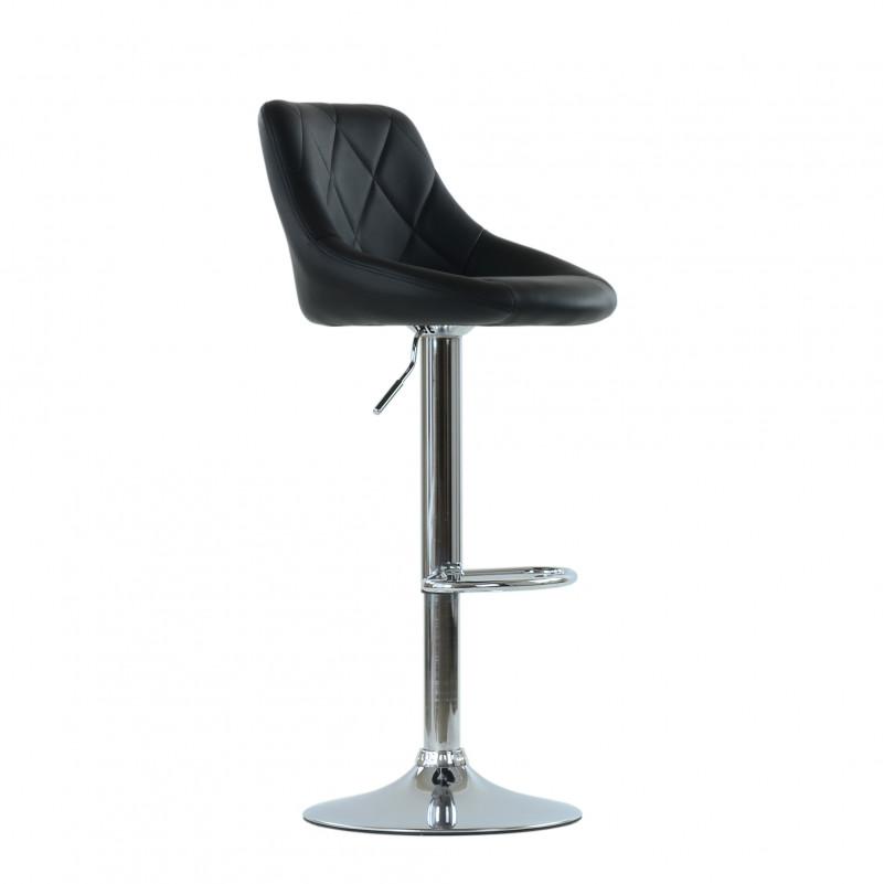 Барный стул Barneo N-83 Comfort (Комфорт) черная кожа