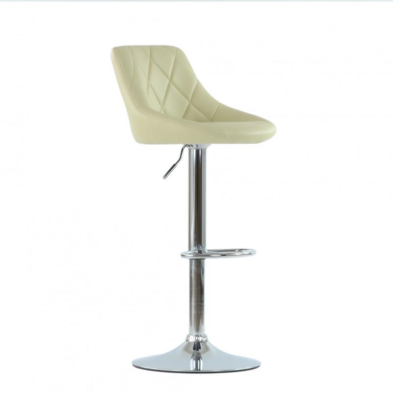 Барный стул Barneo N-83 Comfort (Комфорт) бежевая кожа