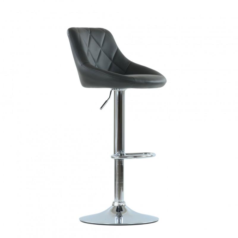 Барный стул Barneo N-83 Comfort (Комфорт) серая кожа