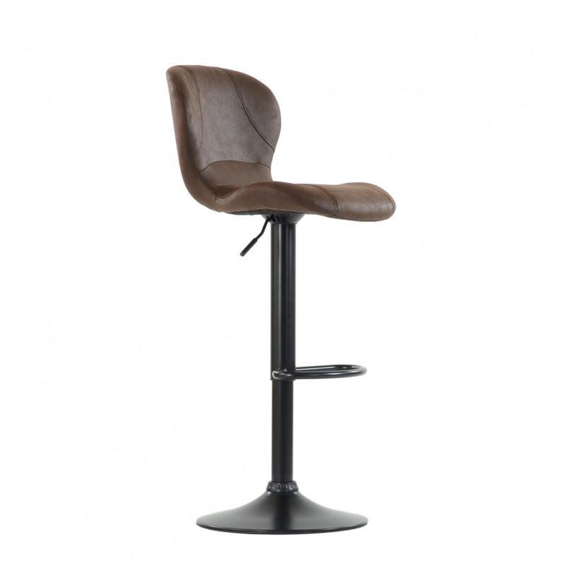 Барный стул Barneo N-86 Time / Black / VPU Brown Vintage коричневый винтаж PK970-18