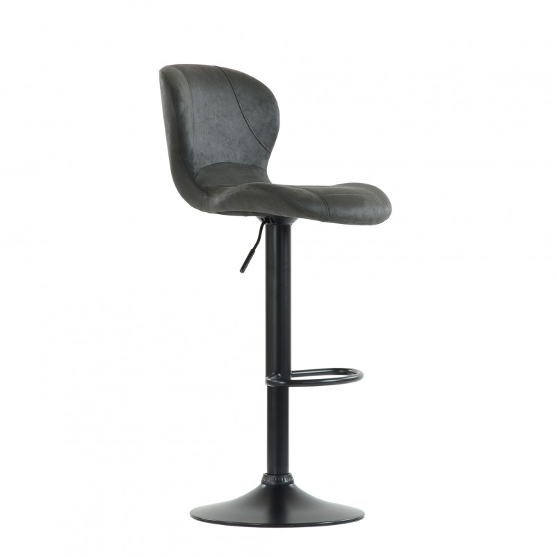 Барный стул Barneo N-86 Time / Black / VPU Dark Gray Vintage серый винтаж 970-11