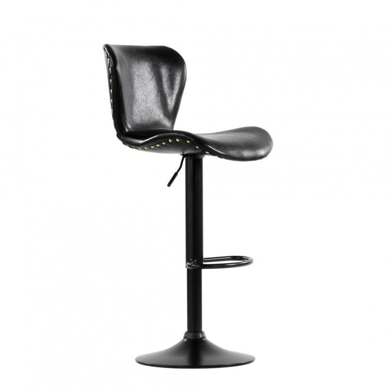 Барный стул Barneo N-87 Over / Black / SPU Shiny Black черная блестящая кожа