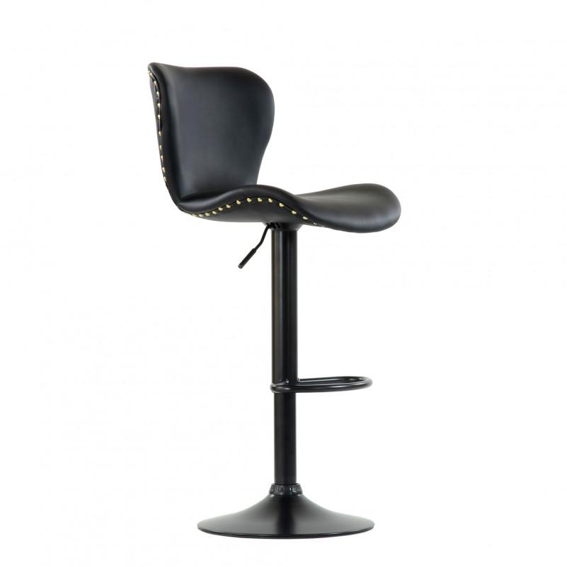 Барный стул Barneo N-87 Over / Black / PU Black черная кожа