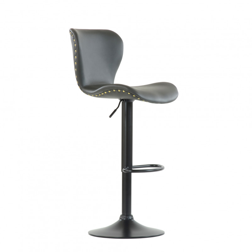 Барный стул Barneo N-87 Over / Black / PU Gray серая кожа