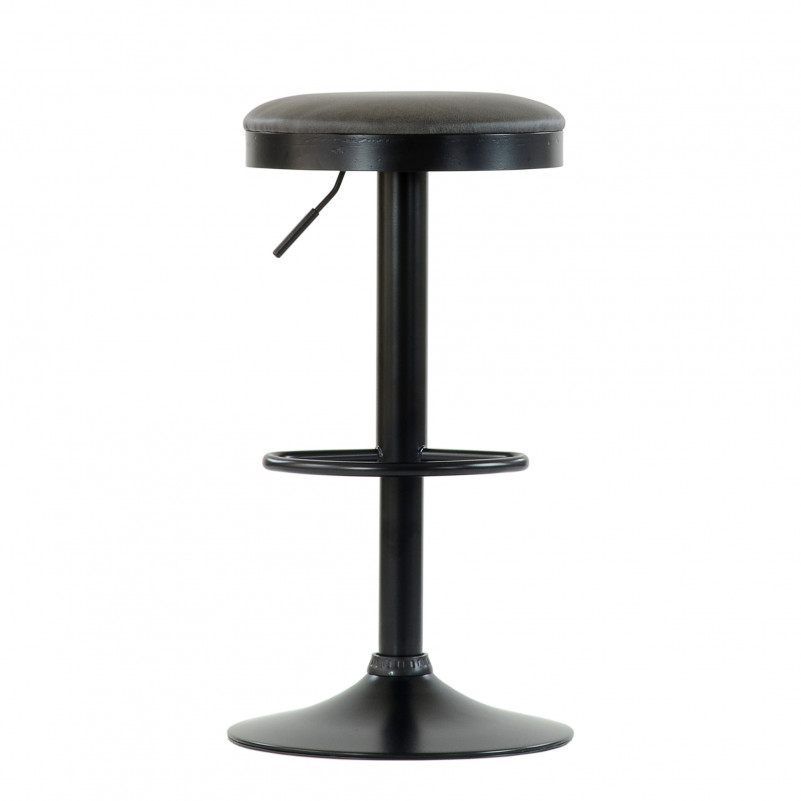 Барный стул Barneo N-129 Green / Black / FPU серая кожа /# 510-24C