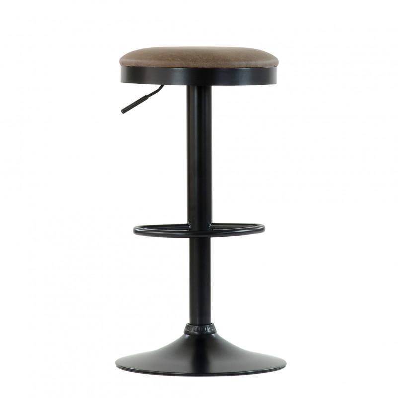 Барный стул Barneo N-129 Green / Black / FPU коричневая кожа # 510-21C
