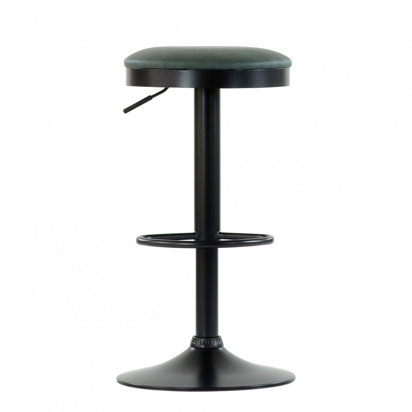 Барный стул Barneo N-129 Green / Black / FPU зеленая кожа # 510-43C