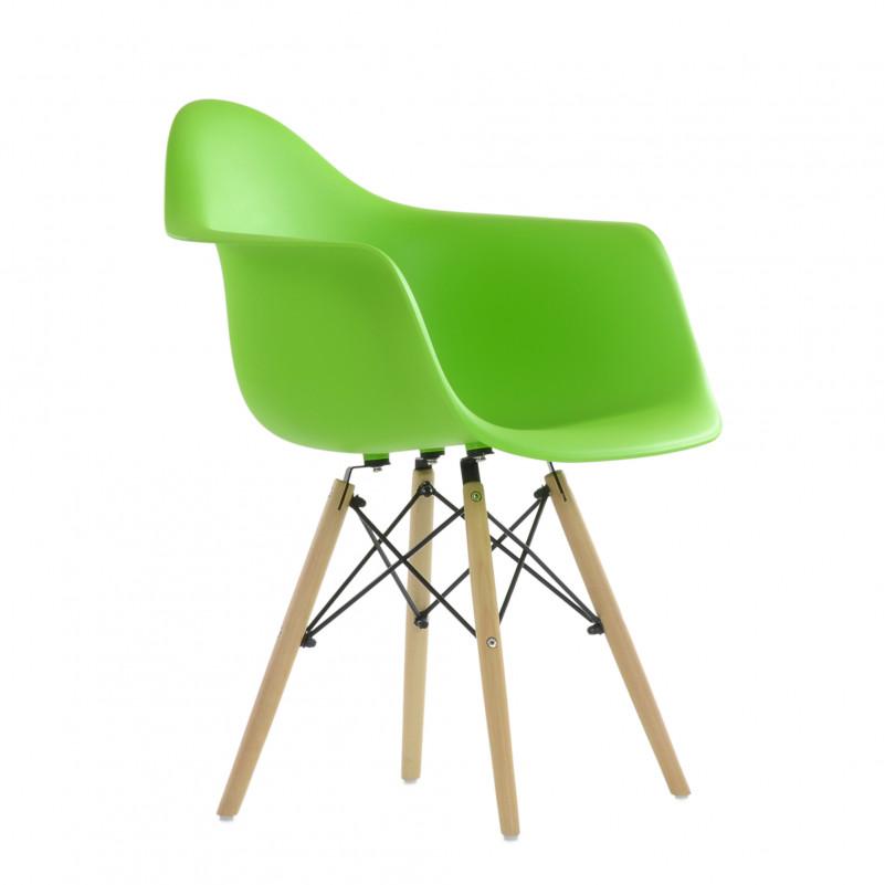 Кресло Barneo N-14 WoodMold Eames style салатовый