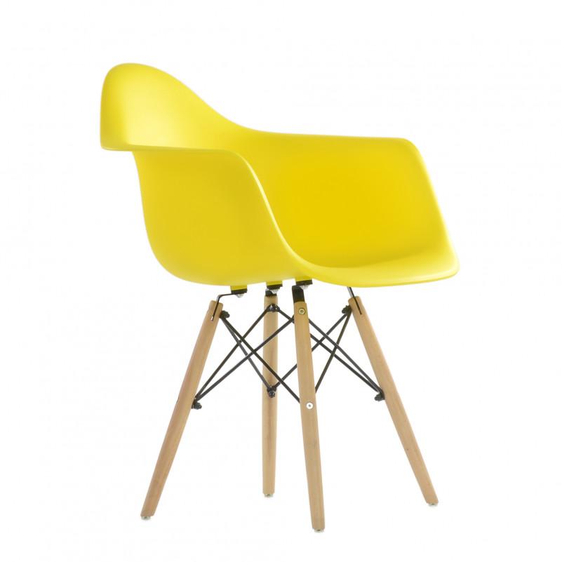 Кресло Barneo N-14 WoodMold Eames style желтый