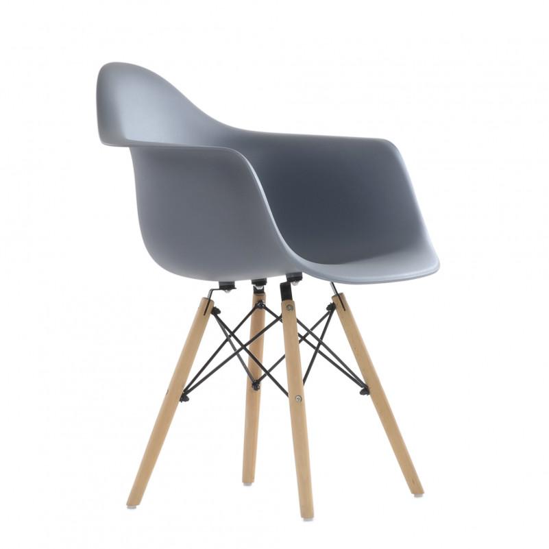 Кресло Barneo N-14 WoodMold Eames style серый
