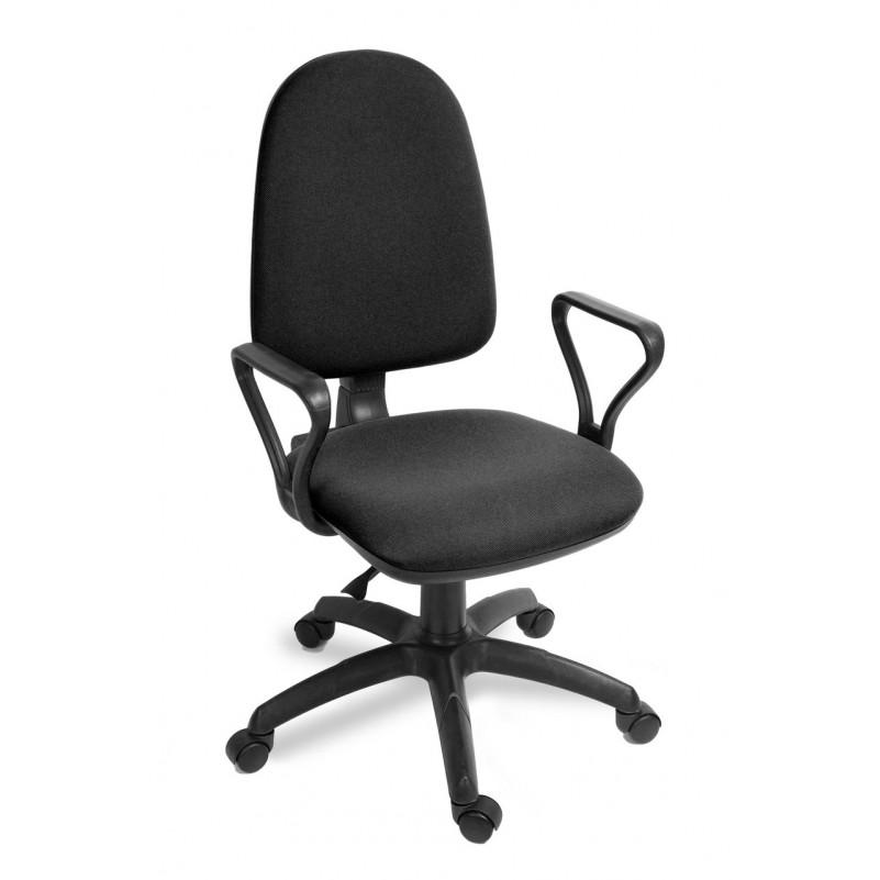 Кресло для персонала Престиж Самба комфорт, ткань, серый В-1