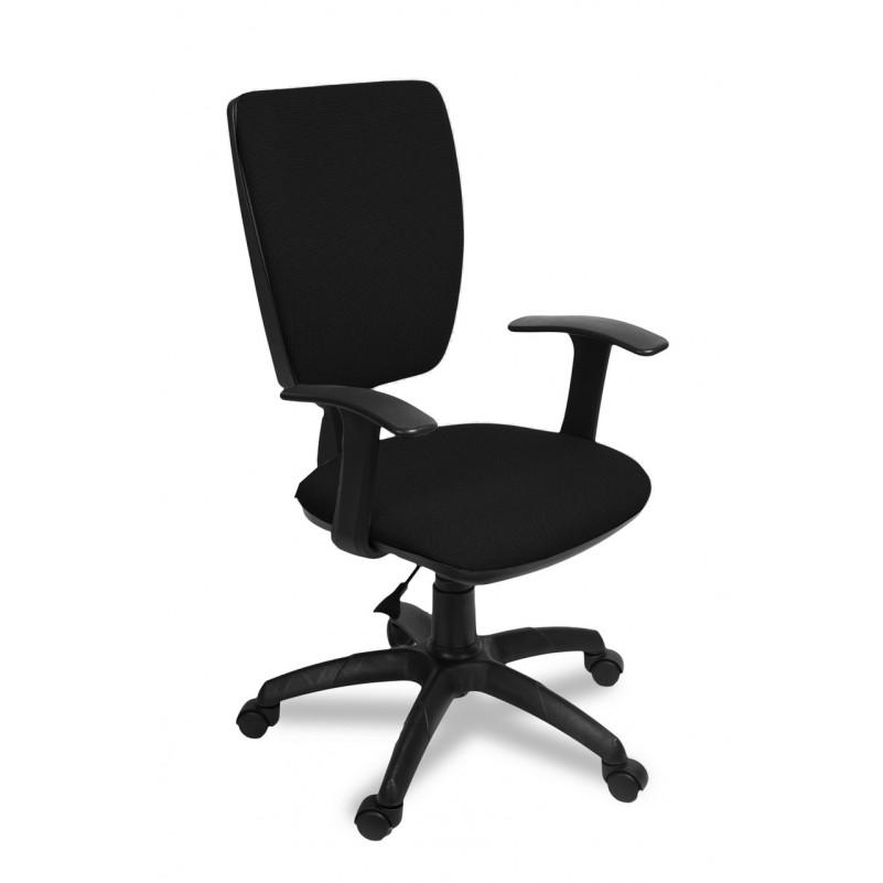 Кресло для персонала Нота Т комфорт, ткань сетка, черный