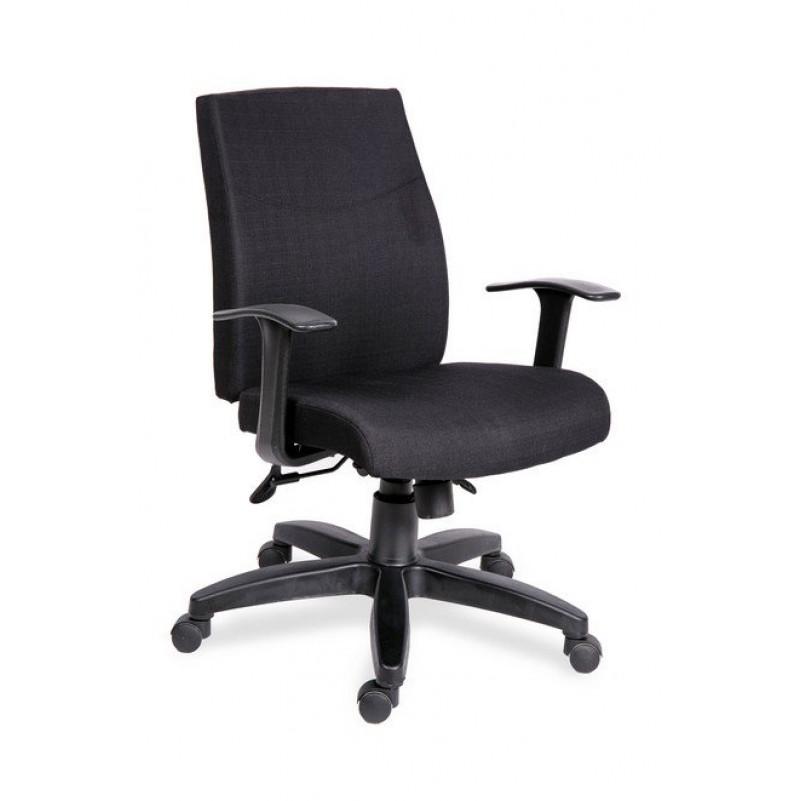 Кресло для персонала МГ-19 Т АМЕРИКА - ткань серая