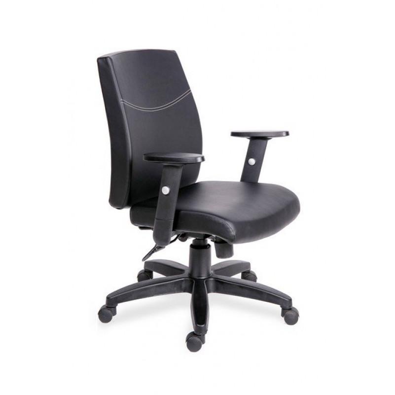 Кресло для персонала МГ-19 RSJ АМЕРИКА  - экокожа черная