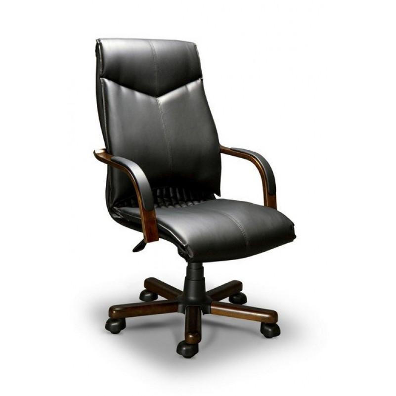 Кресло для руководителя BARBARA A LX венге, экокожа черная