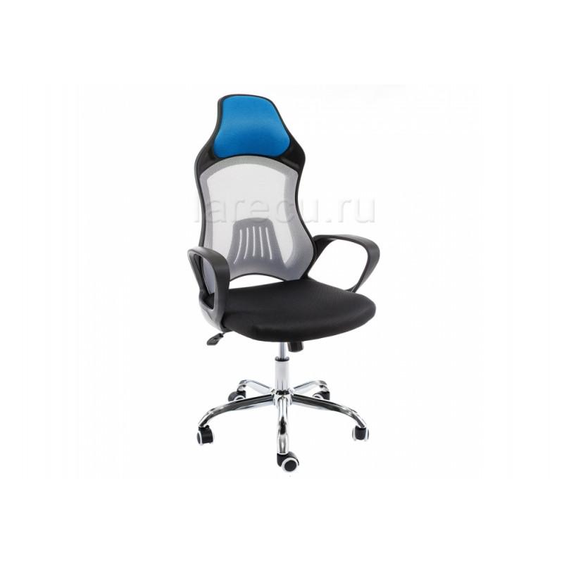 Компьютерное кресло Atlant белое / черное голубое