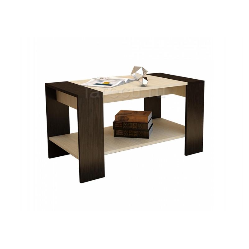 Журнальный стол Квадро венге / дуб
