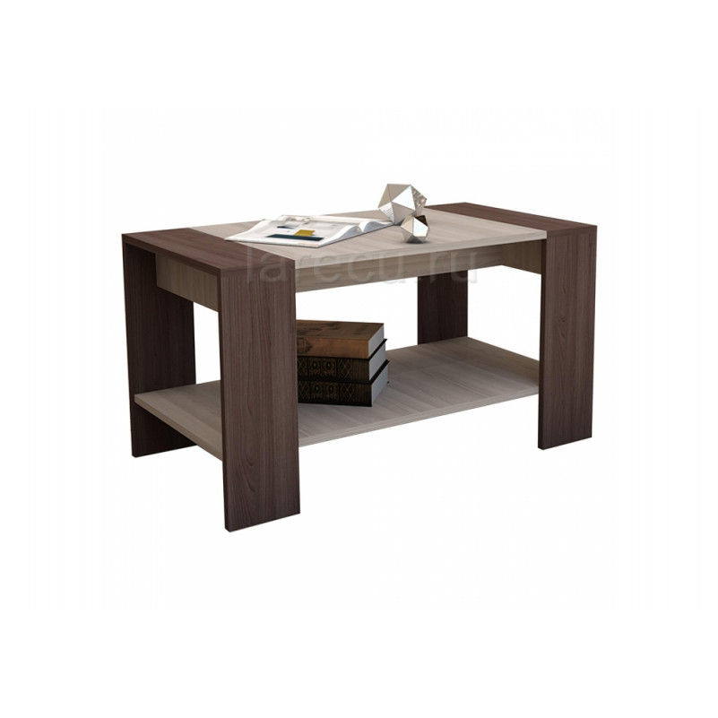 Журнальный стол Квадро ясень шимо темный / светлый