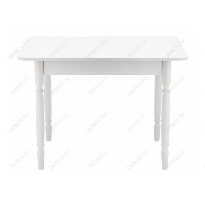 Стол деревянный Вуди белый глянец
