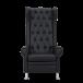 Педикюрное кресло Трон в комплекте с подиумом и подставкой для ноги