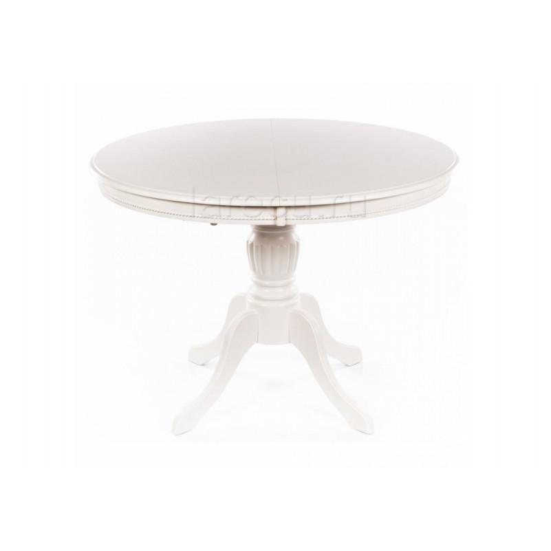 Стол деревянный Лилия 106 молочно-белый