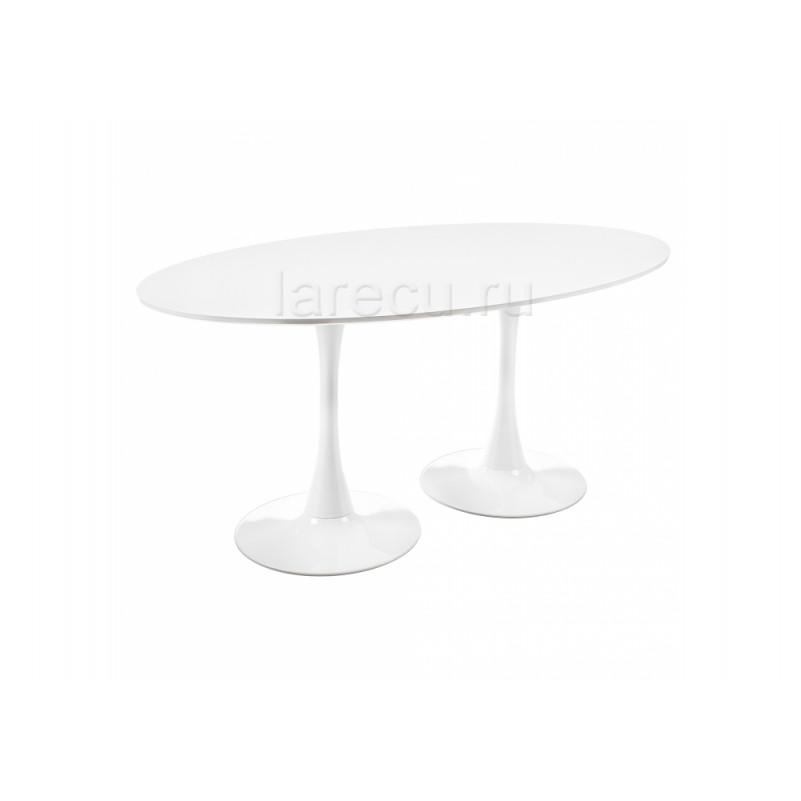 Деревянный стол Tulip Double белый