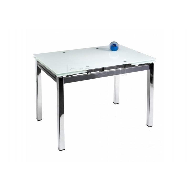 Стол стеклянный Kvadro 110 экстра белый
