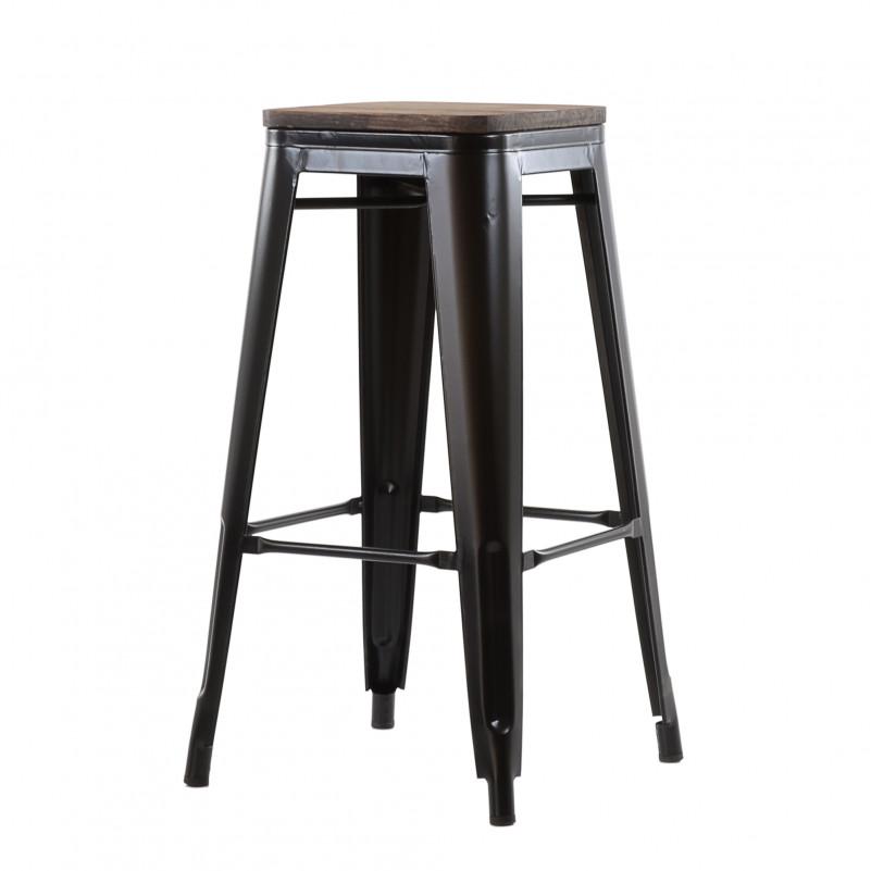 Барный табурет Barneo N-237 Tolix style Wood любой цвет RAL